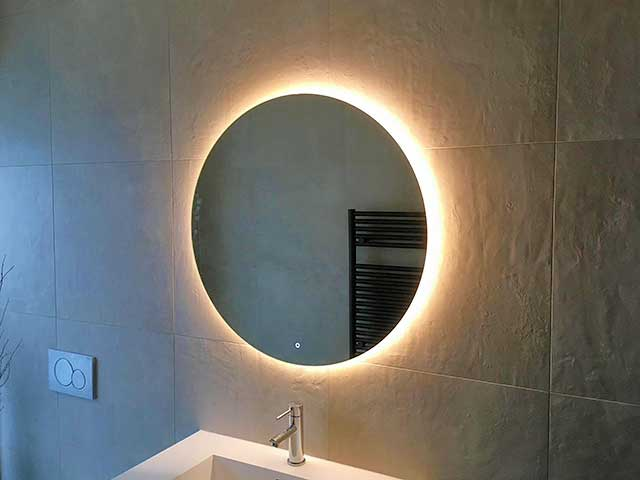secure mirror wall mounting
